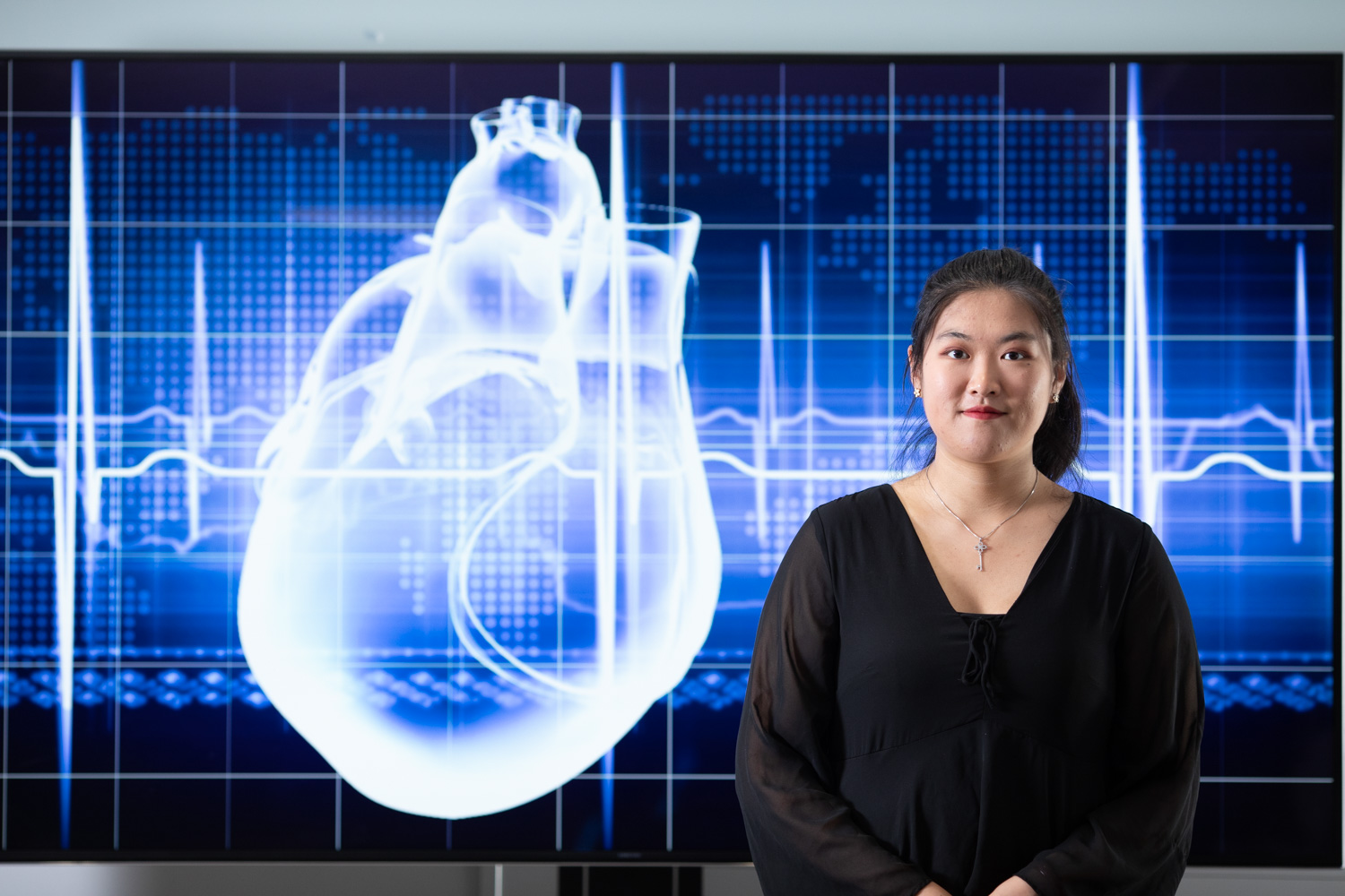 Student on the Health Data Analytics course, undertaking cardiovascular research