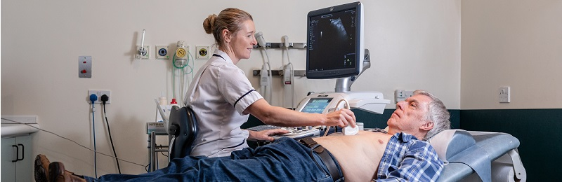 the postgraduate ultrasound diagnostic imaging course trains professionals to scan patients using ultrasound