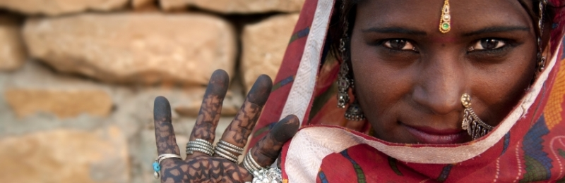 Lady with henna - BA Geography header image