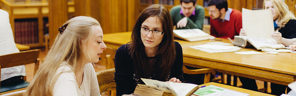 Students in the Brotherton library reading room