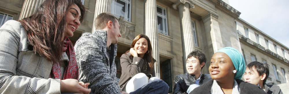postgraduate students on parkinson steps