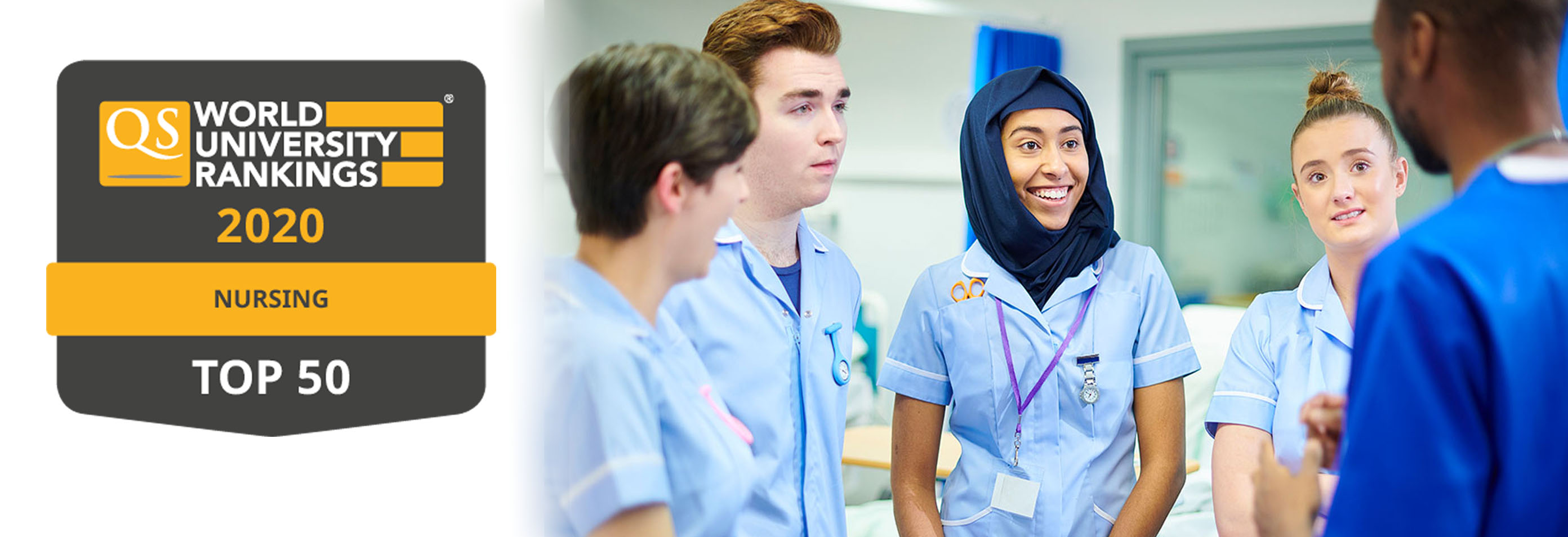 School of Healthcare moves into top 50 in the world for Nursing in new QS subject rankings, 6th in UK.