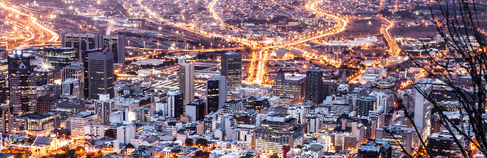 Cape Town city aerial view