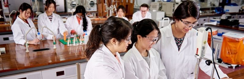 Students during a practical session